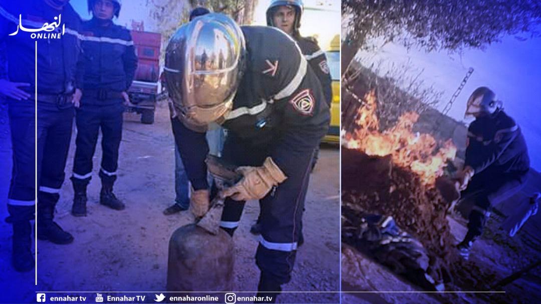 الشلف:-إخماد-حريق-إندلع-في-مدفأة-تسخين-موصولة-بقارورة-غاز-بعين-أمران