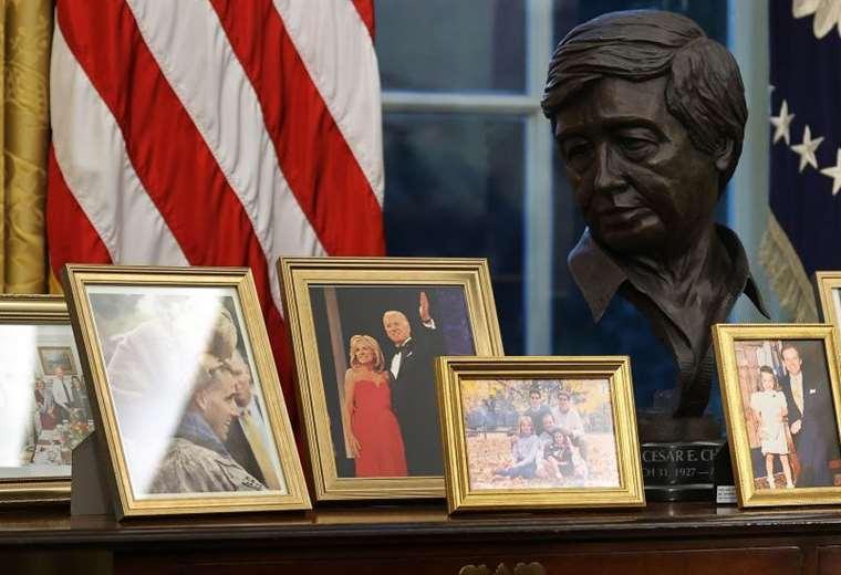 cesar-chavez,-el-lider-sindical-latino-cuyo-busto-ocupa-un-lugar-privilegiado-en-la-oficina-de-joe-biden