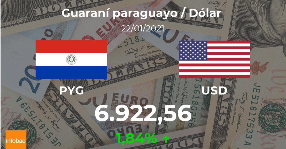 dolar-hoy-en-paraguay:-cotizacion-del-guarani-al-dolar-estadounidense-del-22-de-enero.-usd-pyg