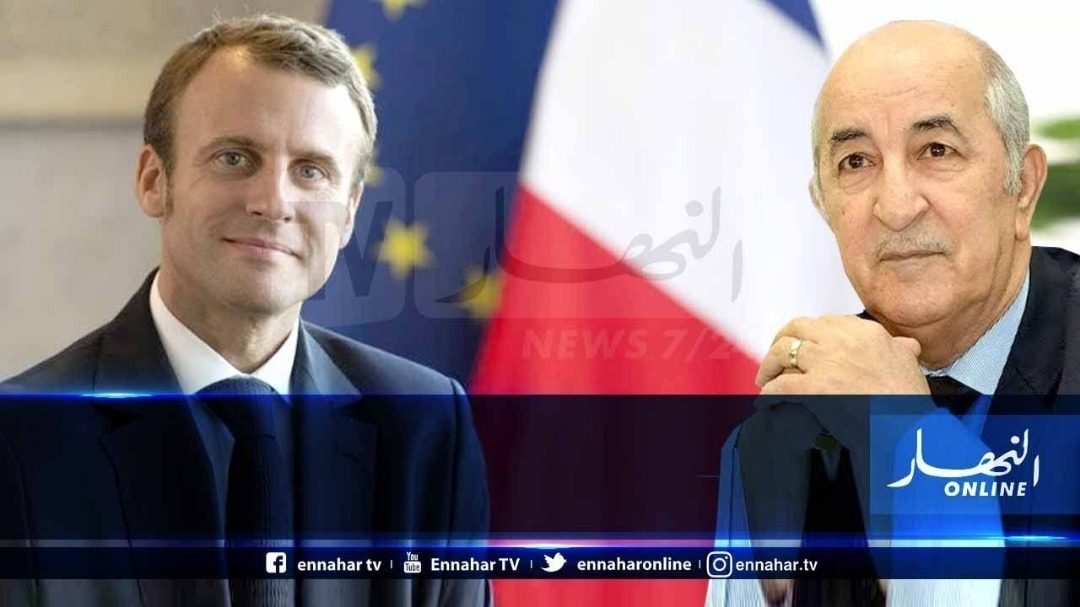 president-tebboune-receives-a-phone-call-from-his-french-counterpart-emmanuel-macron