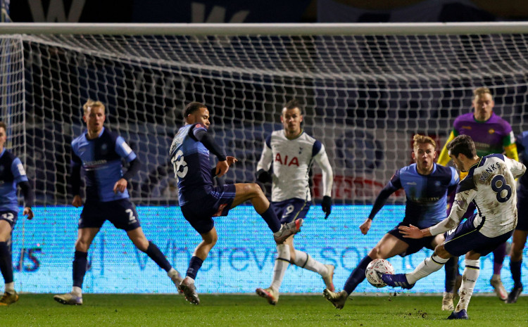 tottenham-broke-wycombe's-resistance-in-the-86th-minute-and-scored-three-goals-to-advance-to-the-round-of-16-of-the-fa-cup