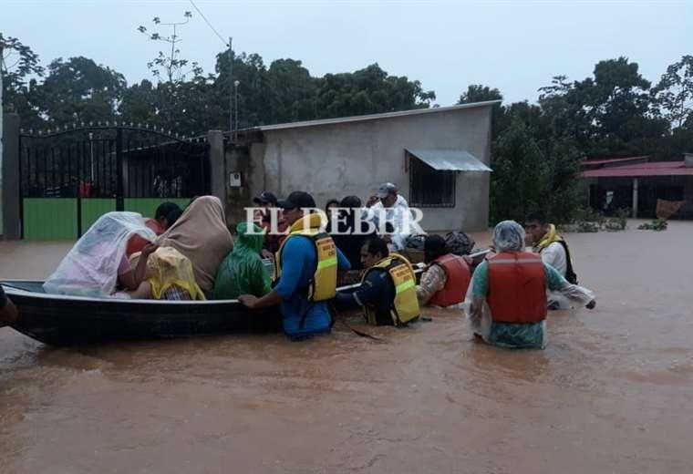 las-lluvias-ocasionan-crecidas-en-cuatro-rios-crucenos;-en-yapacani-varios-barrios-han-sido-evacuados