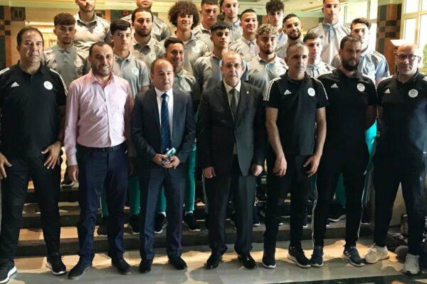 the-algerian-ambassador-in-cairo-receives-the-under-20-teamنتخب