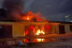 meanwhile,-the-fire-is-burning-so-nguon-dry-port-warehouse-on-street-271-(video)