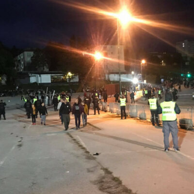 """video-/-strong-police-forces-in-kosevo:-south-tribune-""""hermetically""""-closed,-rigorous-controls"""