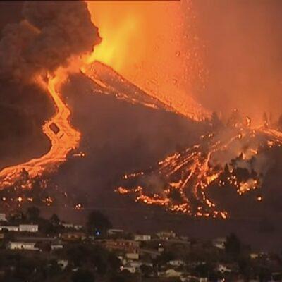 lava-del-volcan-de-las-canarias-pierde-velocidad,-pero-mantiene-su-capacidad-destructiva