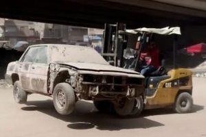 محافظة-الجيزة-ترفع-السيارات-المتهالكة-بشارع-ترعة-الزمر