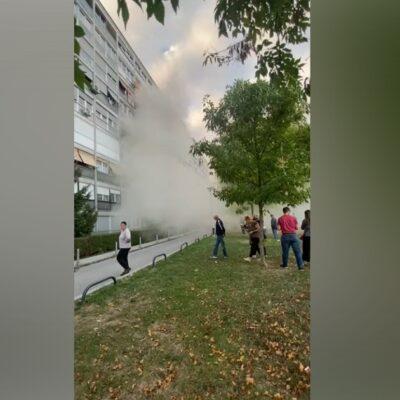 video-fire-in-a-building-in-novi-zagreb,-man-killed