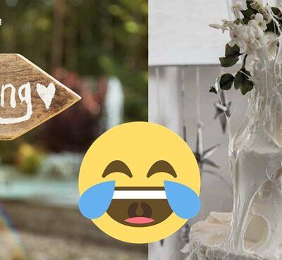 新娘呻婚禮蛋糕大崩壞-佈滿「白蜘蛛網」驚變哈囉喂版