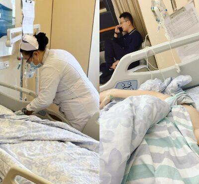 入院切除脊椎腫瘤-李蘊獲老公陪伴在側行動澄清無家暴